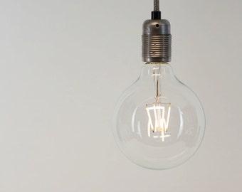 G125 XL Globe Warm White LED Filament Vintage Edison Light Bulb | E27 es screw or B22 Bayonet | 4w - 40w equivalent | Dimmable