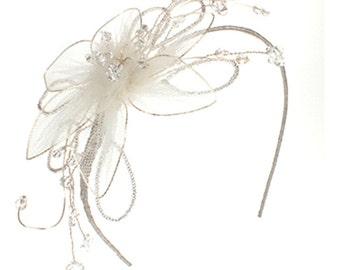Childs Wedding Headdress, Flower Girl Headdress, Communion Headdress, Bridal, Wedding,Bridesmaids, Children