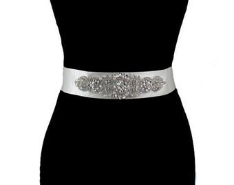 Bridal Sash, Wedding Dress Belt, Bridal Belt, Beaded Belt Sash
