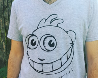 SMILE and Be Happy T-Shirt - funny whimsical upbeat