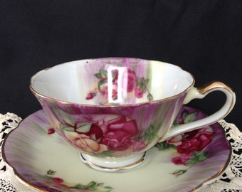 Shafford hand painted, Japan cup and saucer