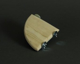 HopSpot™ Chinchilla Cage Mini-Shelf - Kiln Dried untreated pine and wing nut installation
