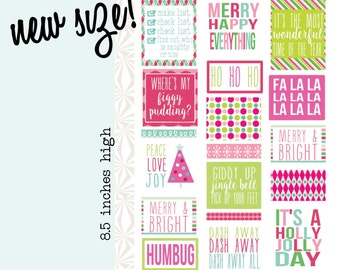 Merry & Bright   Christmas Decorating Planner Stickers (#063)