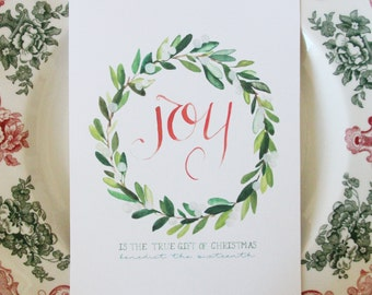 Joy is the True Gift of Christmas 5x7 print