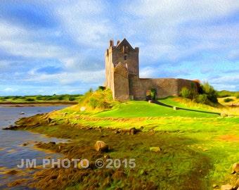 Irish Castle - painted