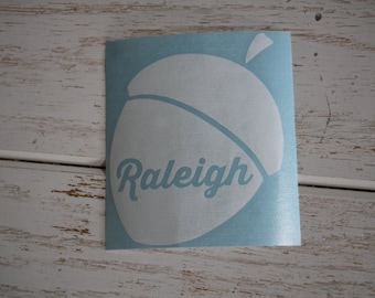 NC Home Decal, Raleigh Decal, Raleigh NC, City of Oaks, Raleigh Acorn Decal, Laptop Decal, Raleigh NC Car Decal, Raleigh Oaks, Raleigh Acorn