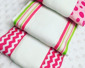 Embellished burp cloths