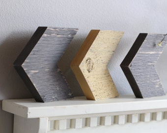Chevron Arrows (Set of 3) Rustic
