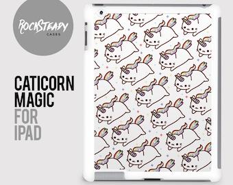 Caticorn Cat Unicorn iPad case, iPad 2, 3, 4 case, iPad Mini case, iPad Air case, Hard plastic snap on iPad cover, shell, catacorn kawaii