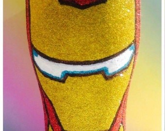 Ironman glitter glass