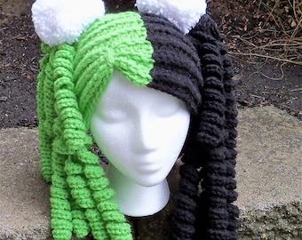 Harley Quinn crocheted hat  ,crocheted hat