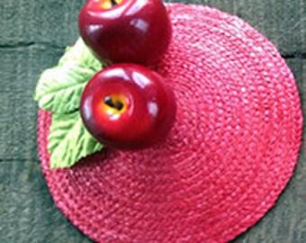 Red Apple Fascinator