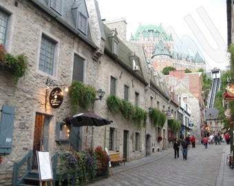 """Quebec City, Canada 20"""" High x 30"""" Long Wall Art Photography on Wrapped Canvas"""