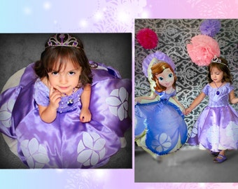 Sophia the first dress party costume children or adults