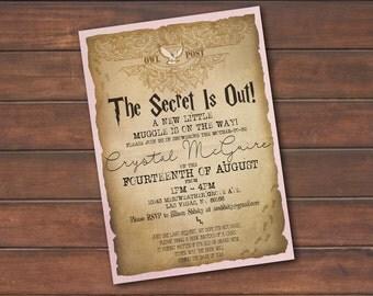 Harry Potter Theme Baby Shower Invite *DIGITAL FILE* (.jpg or PDF)