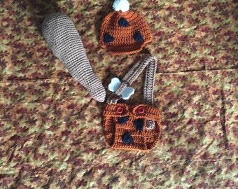 Crochet Flintstones bam bam halloween costume, babyshower gift