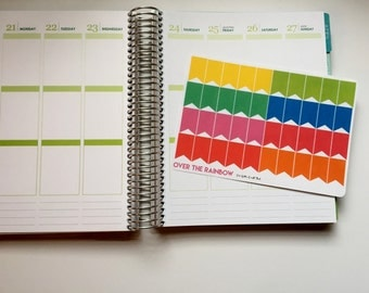 Planner Stickers-Over The Rainbow Banner Stickers