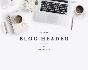 Custom Blog Header - Custom Squarespace Blogger Wordpress Header Logo Design - Blog Logo Design