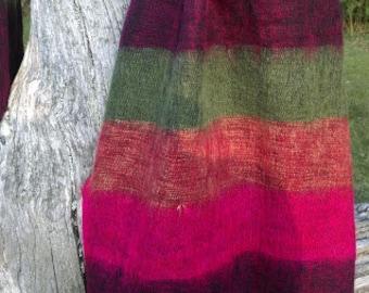 Stripies - Nepalese Shawl - Winter Berry