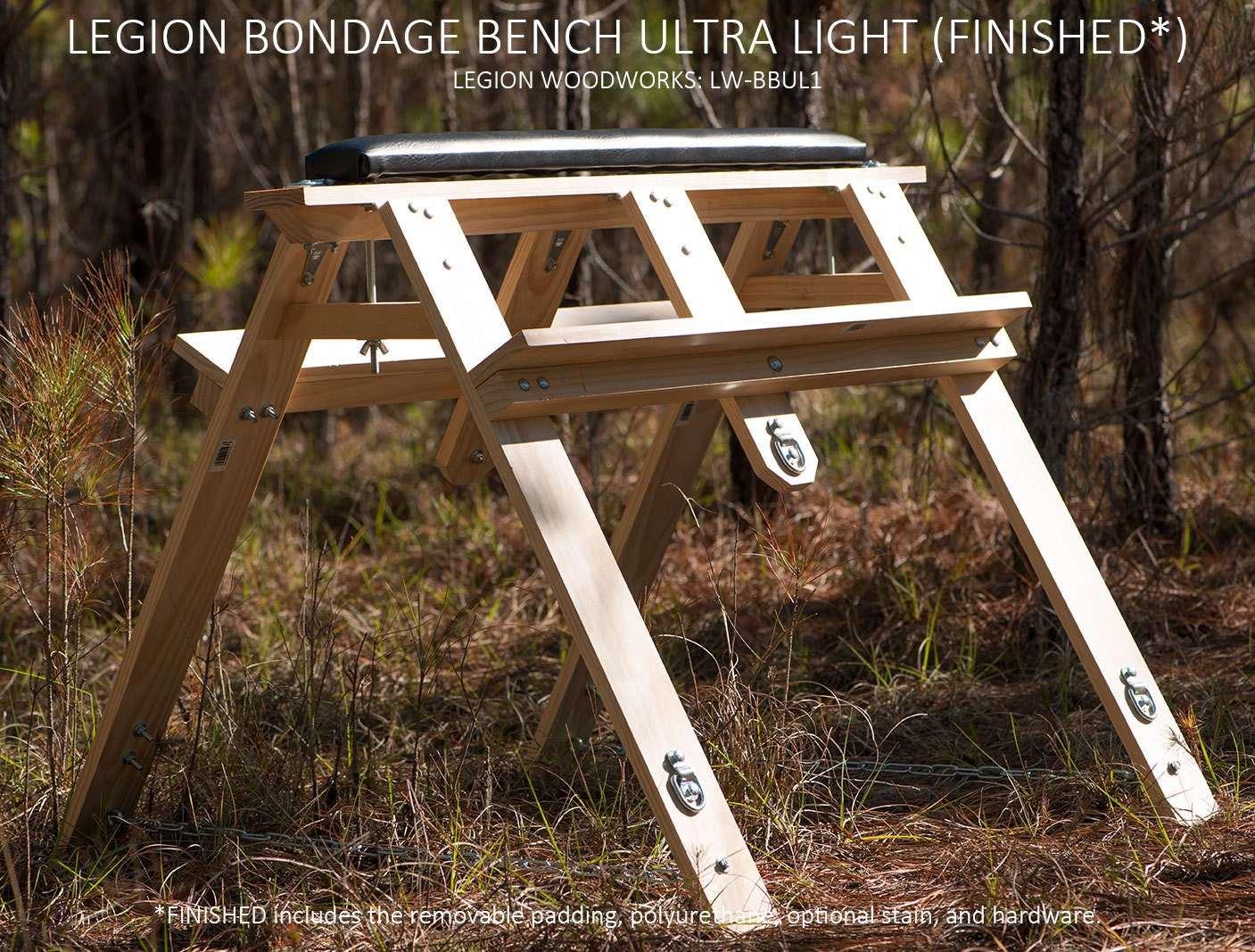 The Legion Ultra-Light Bondage Bench LW-BBUL1