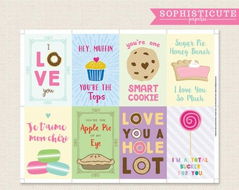 Printable Lunchbox Notes - Back to School - Food Pun Cards - Instant Download