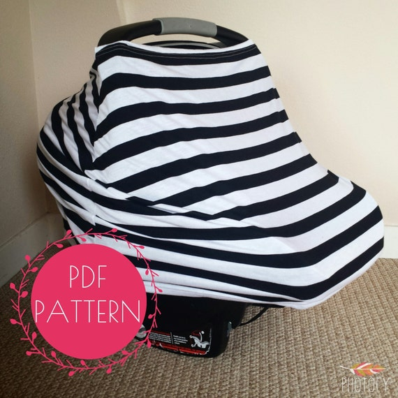 Car Seat Cover Nursing Cover Sewing Pattern Diy Stretchy Baby