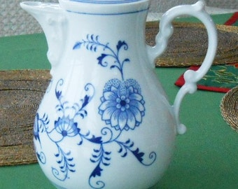 Coffee pot blue onion original Czechoslovakia