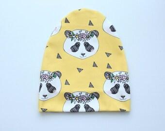 organic baby beanie, baby slouch beanie, organic baby hat, organic baby, baby slouchy beanie, organic baby beanie, panda beanie