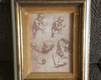 Vintage etching, art, collectble art, Handmade art, unique art