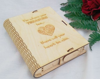 "Wedding Gift, Wooden ""Book Box"""