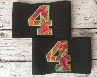 Custom Roller Derby Armbands- 1 number