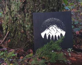 Mountain sign (12in x 12in)