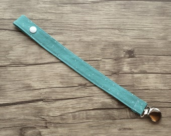 Pacifier Clip- Teal-Soother Clip-Paci Clip- Binky Clip