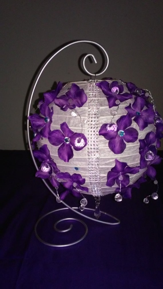 Items similar to paper lantern centerpiece with stand on etsy