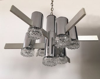 Sciolari chandelier lighting, Original Made in Italy, '60s