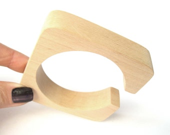 20 mm Wooden square cuff,  Unfinished bracelet, Wooden bracelet, Natural wood bracelet, Eco Friendly, Alder tree