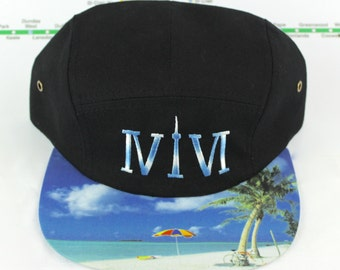 """Two-toned Embroidered Toronto 416 Five Panel Hat. Roman Numerals Stand For """"416"""", With The """"1"""" Resembling The CN Tower! GTA, YYZ Beaches!"""