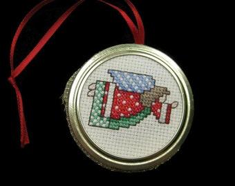 Cross Stitch Angel Ornament