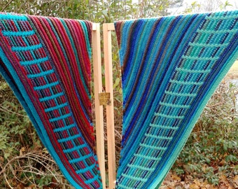 Colorful Metalouse Shawl