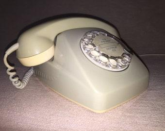Vintage post phone FeTAp 611-2 RB & C mail dials phone grey retro