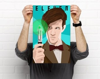Doctor Who: Eleven Painted Poster