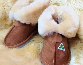 Boys & Girl's Sheepskin Slippers - hand made in Australia since 1981