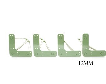Hairpin Legs, Set Of 4, Fern Green, Fully Welded, Vintage/Retro, (12mm Thickness)