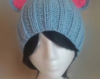 Blue Bear Ear Hat