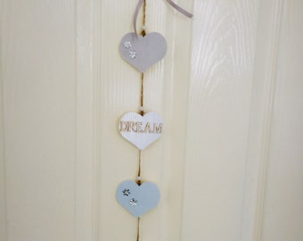 Wooden Hearts Decoration. Wall Decoration. Wall Hanging. Home and Loving. Valentines Hearts