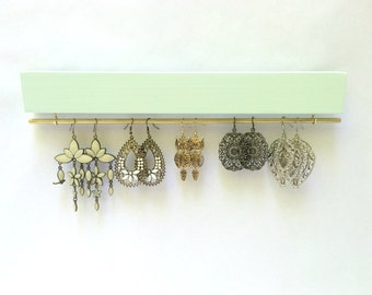 Mint Earring Holder, Earring Jewelry Organizer