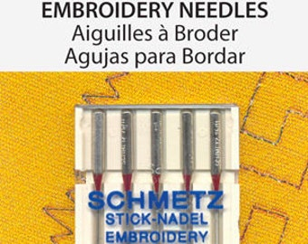 Schmetz Embroidery Needle 75/11 5 Pack