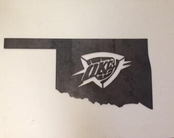 OKC Thunder Metal Art, Home Decor, Wall Art, Unpainted