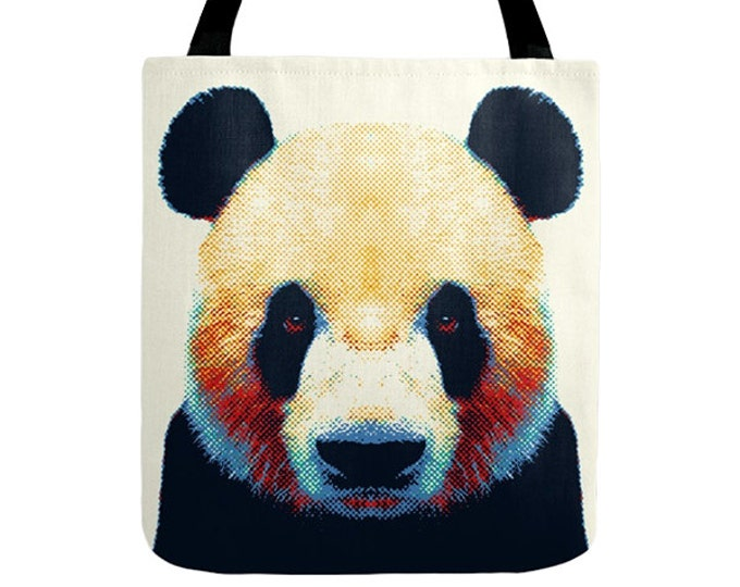 Panda Tote Bag - Colorful Animals