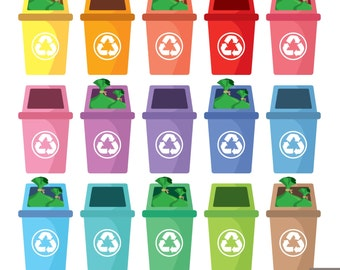 Recycle Bin Digital Clipart